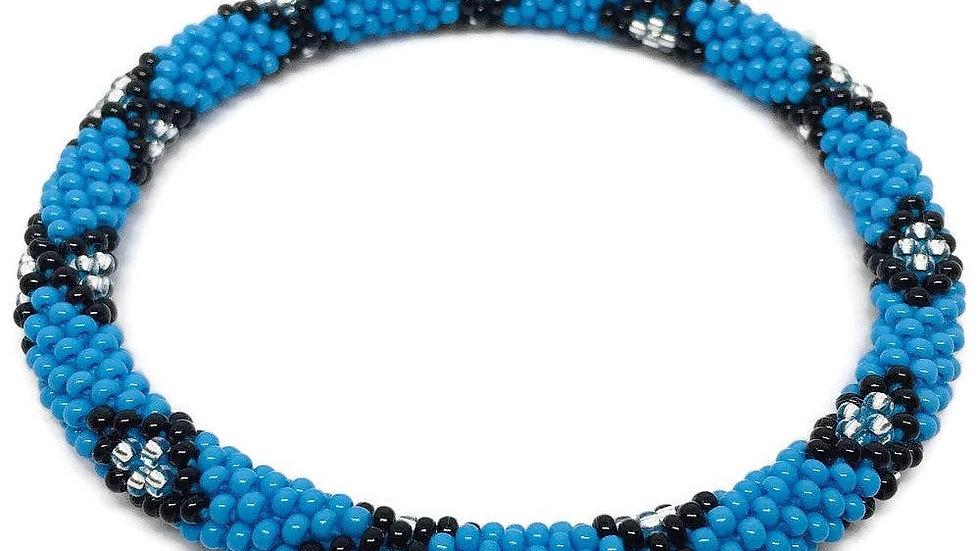 Blue Cross Bracelet