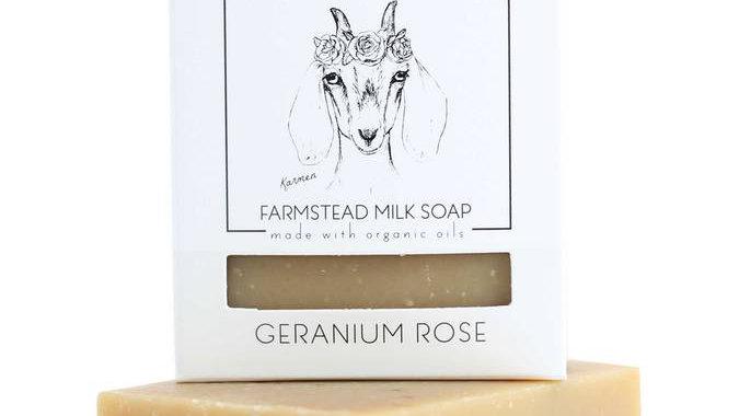GERANIUM ROSE BAR SOAP