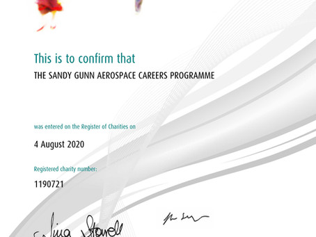 Announcing The Sandy Gunn Aerospace Careers Programme Charity