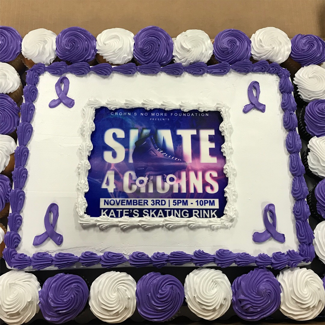Purple ribbon Cake....