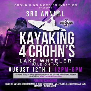 #Kayaking4Crohns