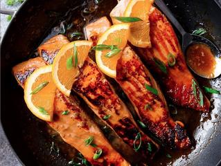 [Recipe] - Crispy Honey Orange Glazed Salmon