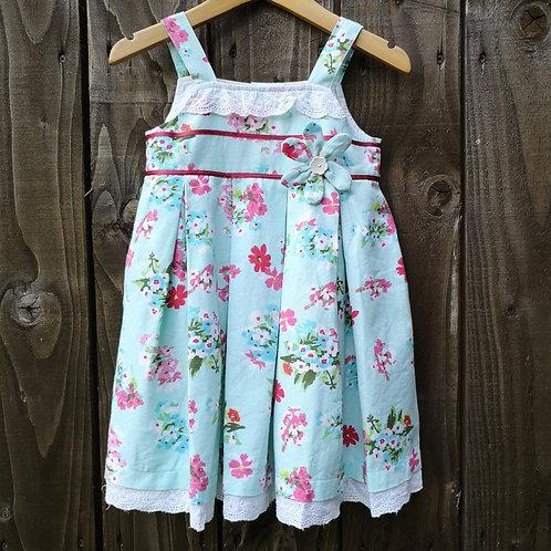 Child's Blue Flower Dress