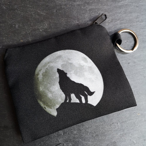 Wolf Moon Keyring Purse