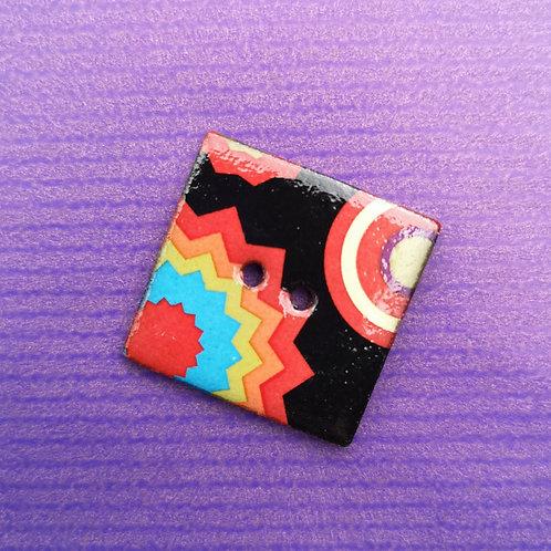 Funky Ceramic Square Button