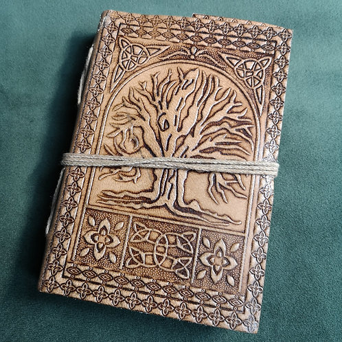 Tree of Life Small Embossed Leather Journal