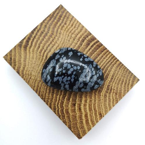 Snowflake Obsidian Palm Stone