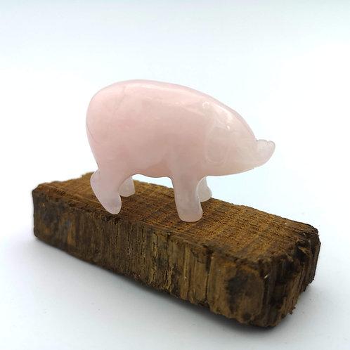 Rose Quartz Pig