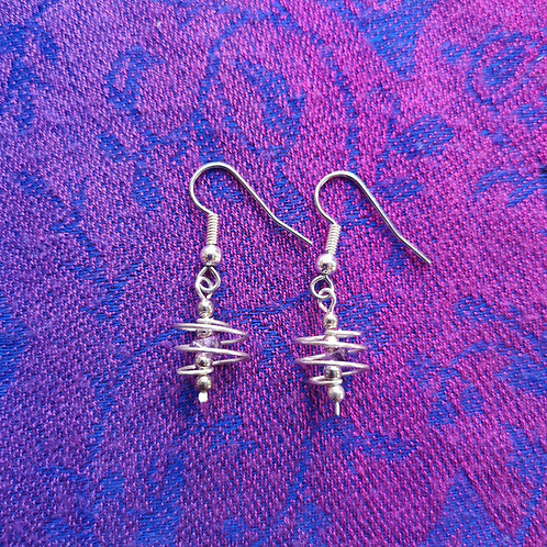 Aquarius Amethyst Spiral Earrings