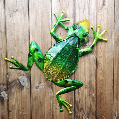 Giant Frog Metal & Glass Wall Plaque