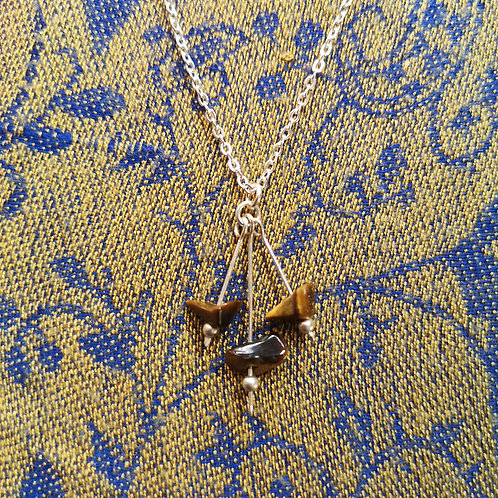 Gemini Tiger Eye Necklace