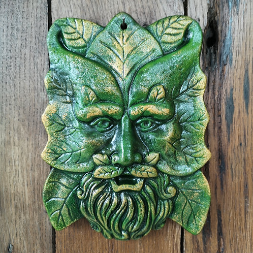 Wise Tree Spirit Green Man Plaque