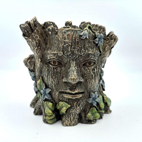 Green Man Tea Light Holder