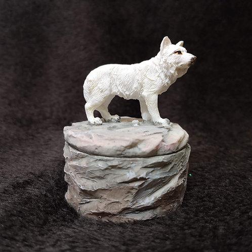 Hunter Wolf Trinket Box