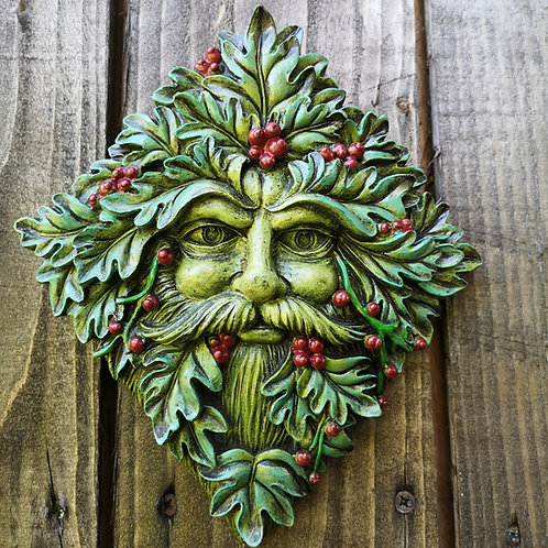 Winter Berries Green Man Plaque