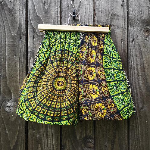 Green Batik Shorts