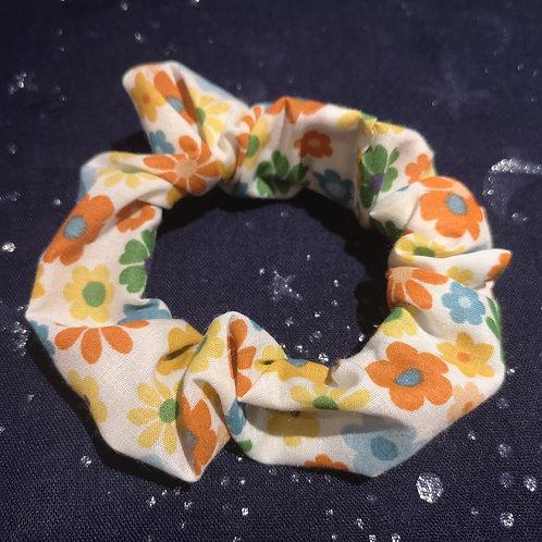 60's Flower Power Scrunchie