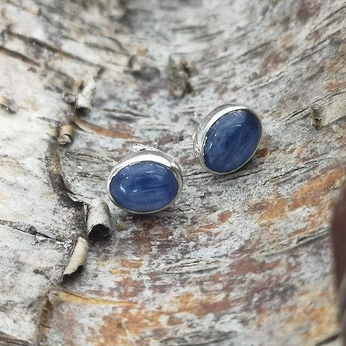 Silver Kyanite Stud Earrings