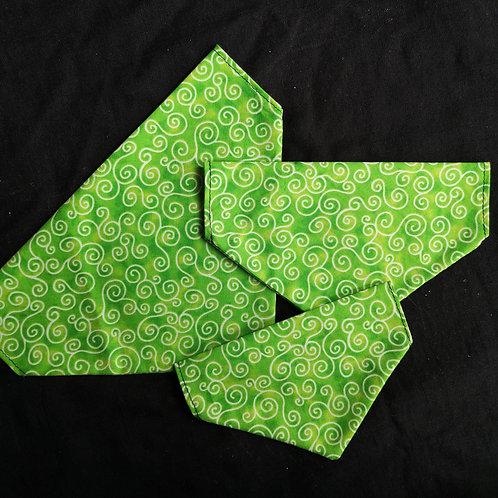 Green Swirl Bandana