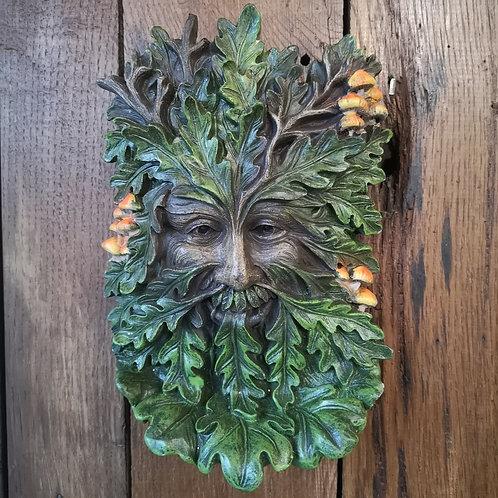 Oak Toadstool Green Man Plaque