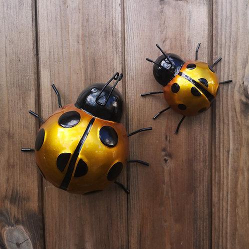 Yellow Metal Ladybirds
