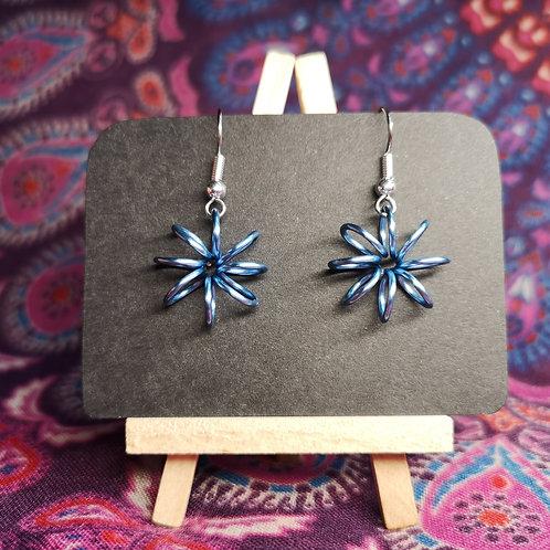 Pale Blue Flower Earrings
