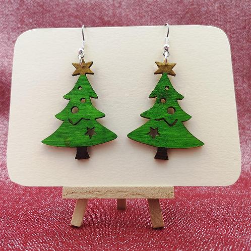 Christmas Tree Earrings Large