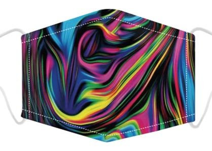 Psychedelic Print Face Mask