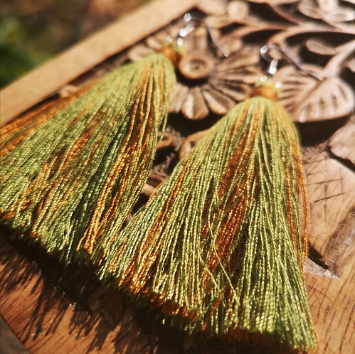 Nature Tassel Earrings