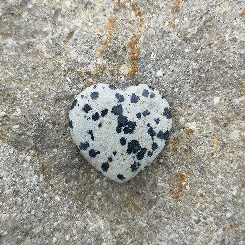 Dalmatian Jasper Heart