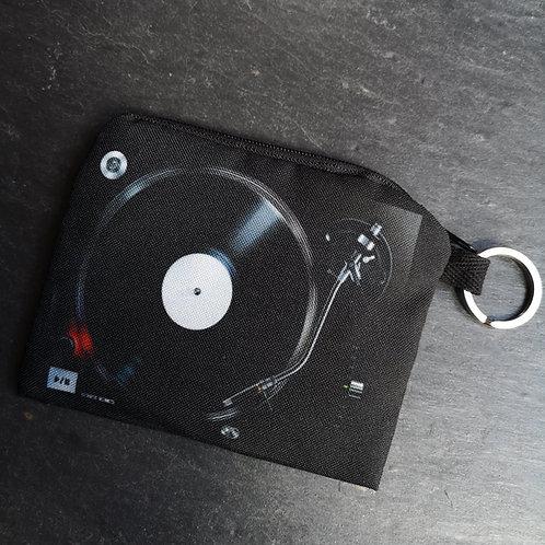 Record Player Keyring Purse