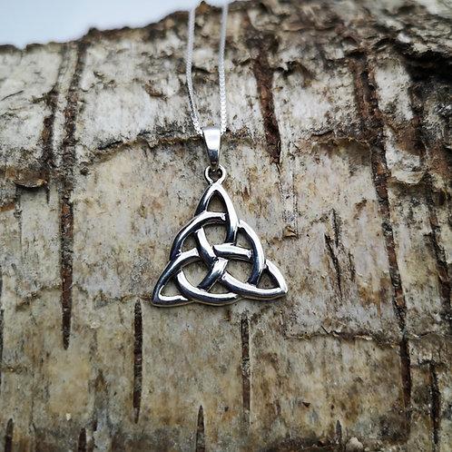 Celtic Triquetra Silver Pendant