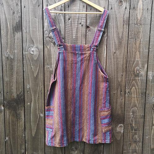 Purple Dungarees Dress