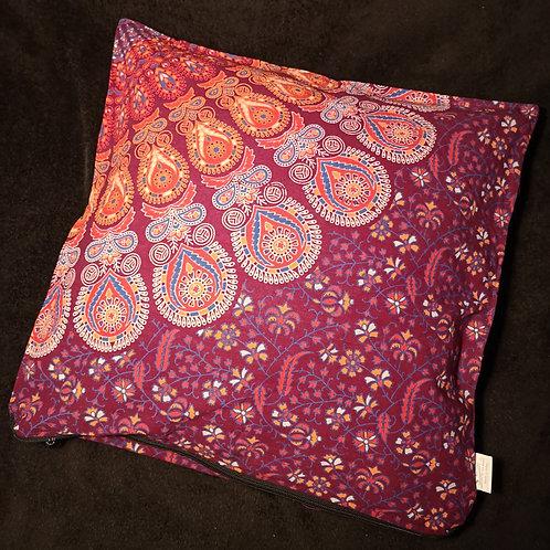 Maroon Mandala Cushion Cover