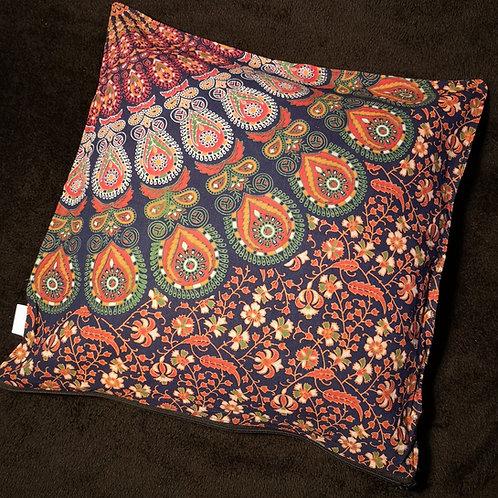 Navy Mandala Cushion Cover