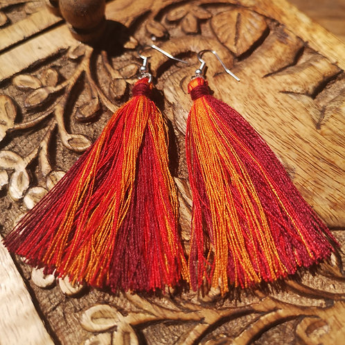 Fire Tassel Earrings
