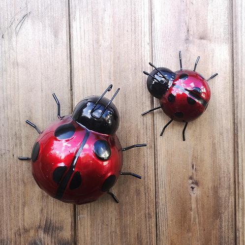 Red Metal Ladybirds