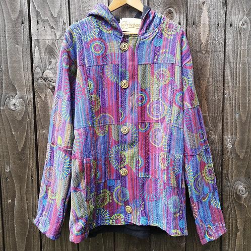 Fleece Lined Swirls Coat