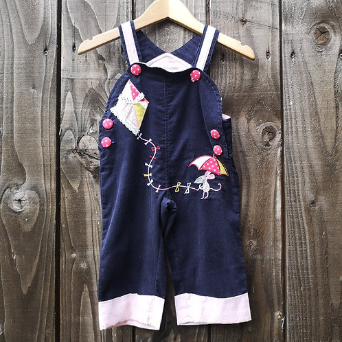 'Let's Go Fly A Kite' Dungarees