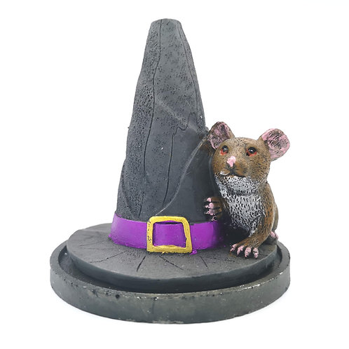 Witches Hat Mouse Incense Cone Burner
