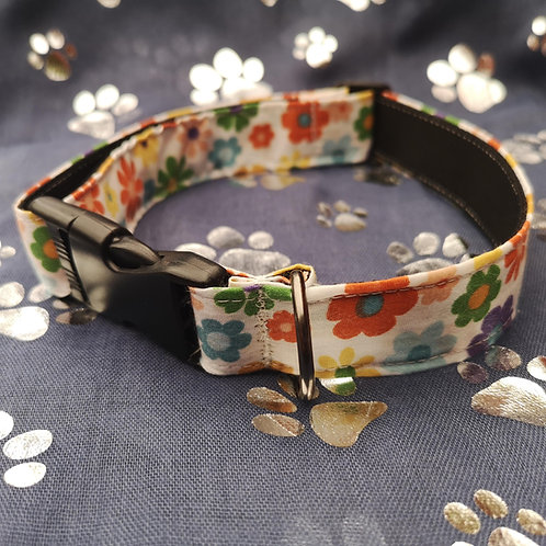 60's Flower Power Dog Collar