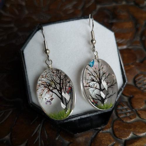 Pale Pink Blossom Tree Earrings