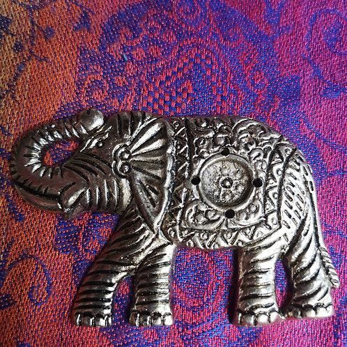 Elephant Metal Incense Holder