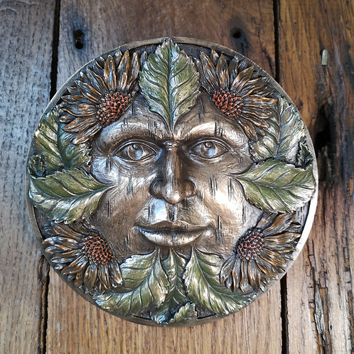 Summer Green Man Plaque
