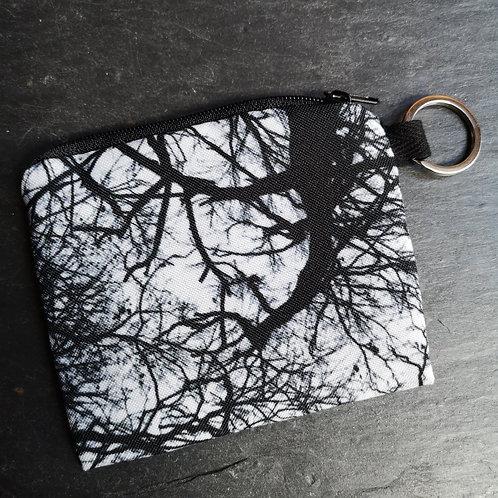 Monochrome Trees Keyring Purse