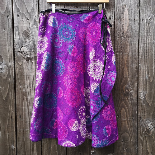 Cosy Purple Wrap Skirt