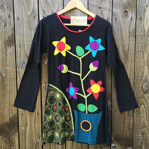 Black Flower Top/Dress