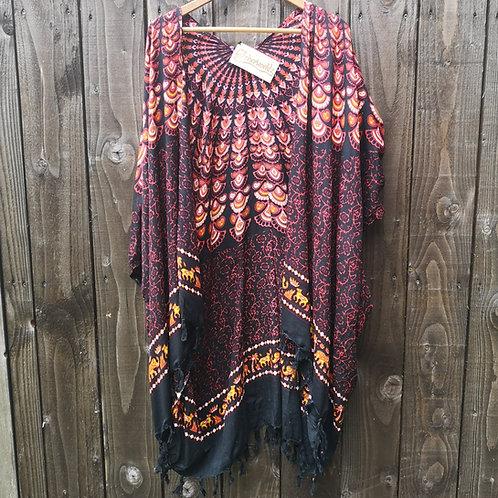 Red Peacock Kimono