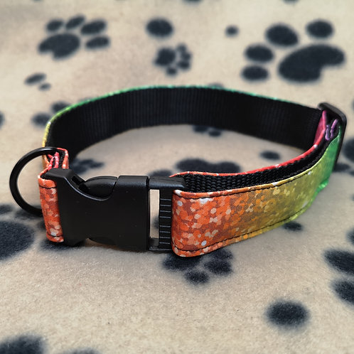 Green/yellow/orange Rainbow Dog Collar