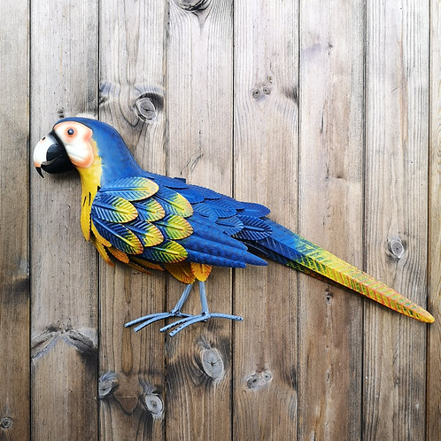Mac the Macaw Metal Wall Plaque